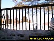 Winter Balcony Teen Fun - MyWildCam.com