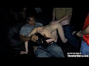 Petite Pale Party Chick GangFucked in Porno Theater