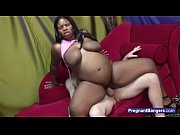 pregnant black girl getting white cock