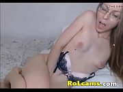 lovelly hot nerd masturbates pussy
