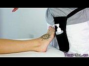 Duped cummy feet masseur