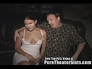 cheating slut wife pleases porn theater strangers in.
