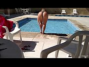 big ass babe show off on pool -.
