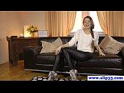 Young Russian closeup casting fuck video