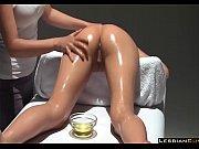 lesbian girl erotic massage oil table.