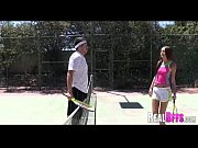 College girls tennis match turns to orgy 076