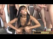 Ebony whore rides cocks and swallows sperm 17