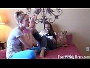 Jasmine nibbling on Bella&#039_s little toes