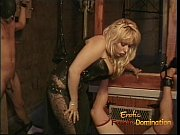 Two naughty studs enjoy having some dungeon fun with a hot domina