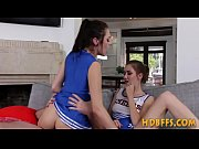 Slutty cheerleaders fucking coach and sucking cock