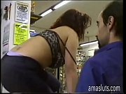 young slut seducing a clerk