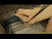 Angel Joanna bathes her sexy feet