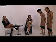 japanese two girls masturbates a man while two.