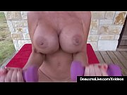 Mature Big Boobed Deauxma Works Out All Nude On Front Porch!