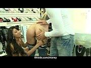 Amateur hottie takes cash for public sex 5