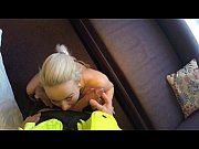Blonde Babe in Threesome with two Officers