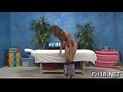 Body massage episode scene