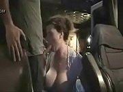 big  tits hooker suck in truck.