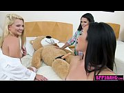 Teen BFFs sucked and rode on a life size teddy bear