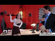 office girl (anna de ville) with big round.