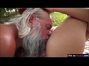 naomi sucking off grandpas hard cock outside and.