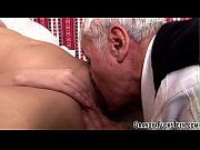 Teen cummed on by gramps
