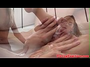 alluring lesbian babe fisted on her.
