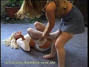 miniskirt and stocking catfight inez vs.