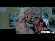Emo slut with tattoos 1050