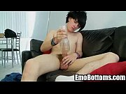 Here is a sexy brunette emo twink who is jerking off Thumbnail