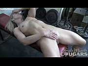 mature female bodybuilder masturbates in the.