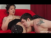 Experienced chick in stockings rides the stiff dick