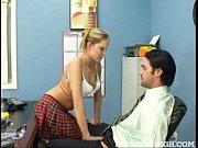 the new teacher gets a blonde cutie as.