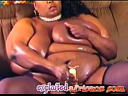 hot ebony bbw babe enjoys masturbating with toys.