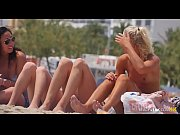 Group of Sexy Topless Girls on Beach