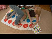 twister and sex toy for a hot blonde.