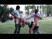 extreme public sex threesome in the middle of.