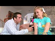 Husband and wife fuck the babysitter 106