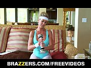 horny big-tit blonde yoga milf brandi love takes.