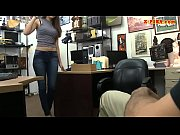 lovely brunette fucked at the pawnshop