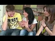 two hot teenage girls fuck with a classmate.
