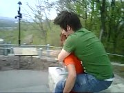 maria giving ubaldo piggy back ride