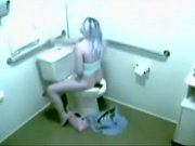 security cam caught hottie toilet masturbating