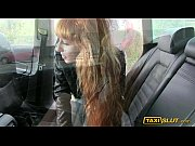 Slender amateur Liza pounded in a cab with the perv driver
