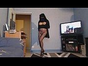 musulmane voil&eacute_e en collant sans culotte