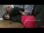 Delicious brunette babe fucked in extreme wild slave sex by spanking kinky boss Thumbnail