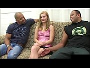 18 year old blonde teen Katie Ray is ready for first interracial threesome