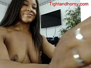 sexy ebony plays on webcam -.