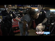 Dude with dreadlocks gets his cock pleasured by horny female cops