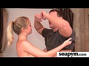 sisters friend gives him a soapy.